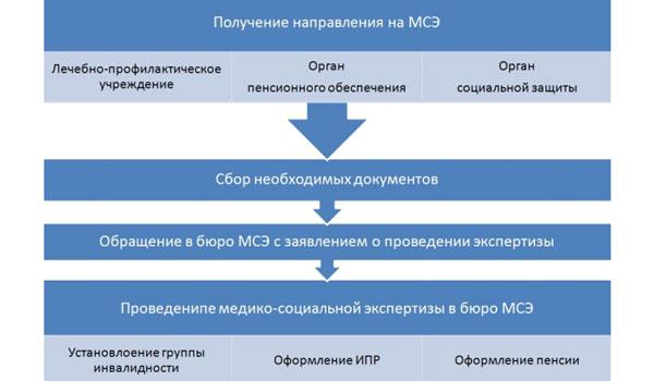 Схема оформления инвалидности