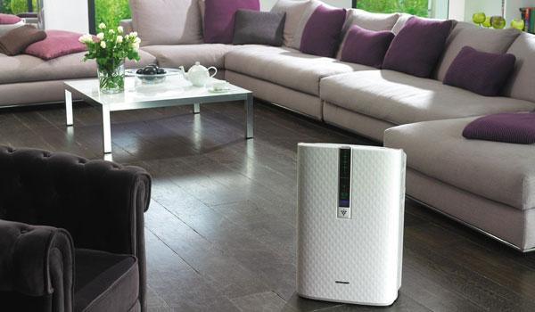Очиститель воздуха в гостинной