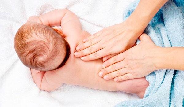 Растирание малыша