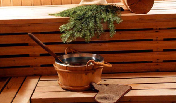Кадушка воды в бане