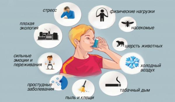 Что вызывает приступ бронхиальной астмы